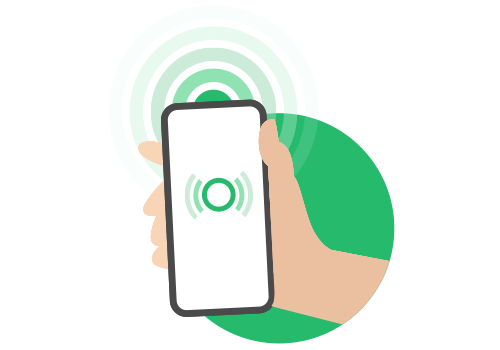 Abbildung von aktivem Bluetooth