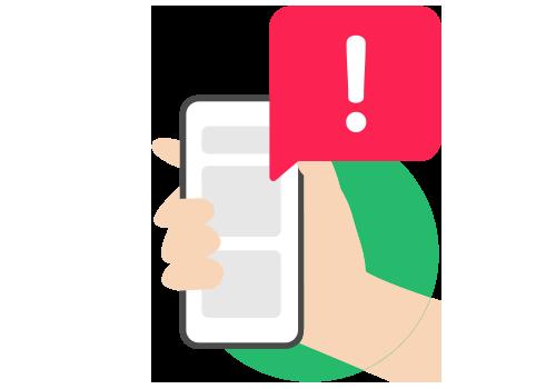 Illustration of an alert