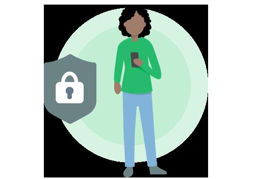 Illustration des Datenschutzes
